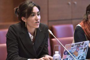 """25 septembre 2017 : réunion constitutive des sept groupes de travail créés dans le cadre des """"Rendez-vous des réformes 2017-2022"""" - Groupe de travail """" Démocratie numérique """", Mme Paula Forteza, Rapporteure."""