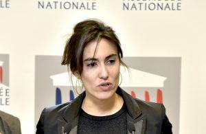 """9 octobre 2017 : Conférence de presse de M. le Président François de Rugy - Lancement d'une consultation citoyenne sur la participation des citoyens à l'élaboration et à l'application de la loi -Paula Forteza, rapporteure du groupe de travail """"Démocratie numérique"""""""