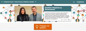 Lancement des Questions citoyennes : à vous d'interpeller le Gouvernement !