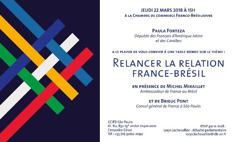 Table ronde à Sao Paulo : Relancer la relation France-Brésil