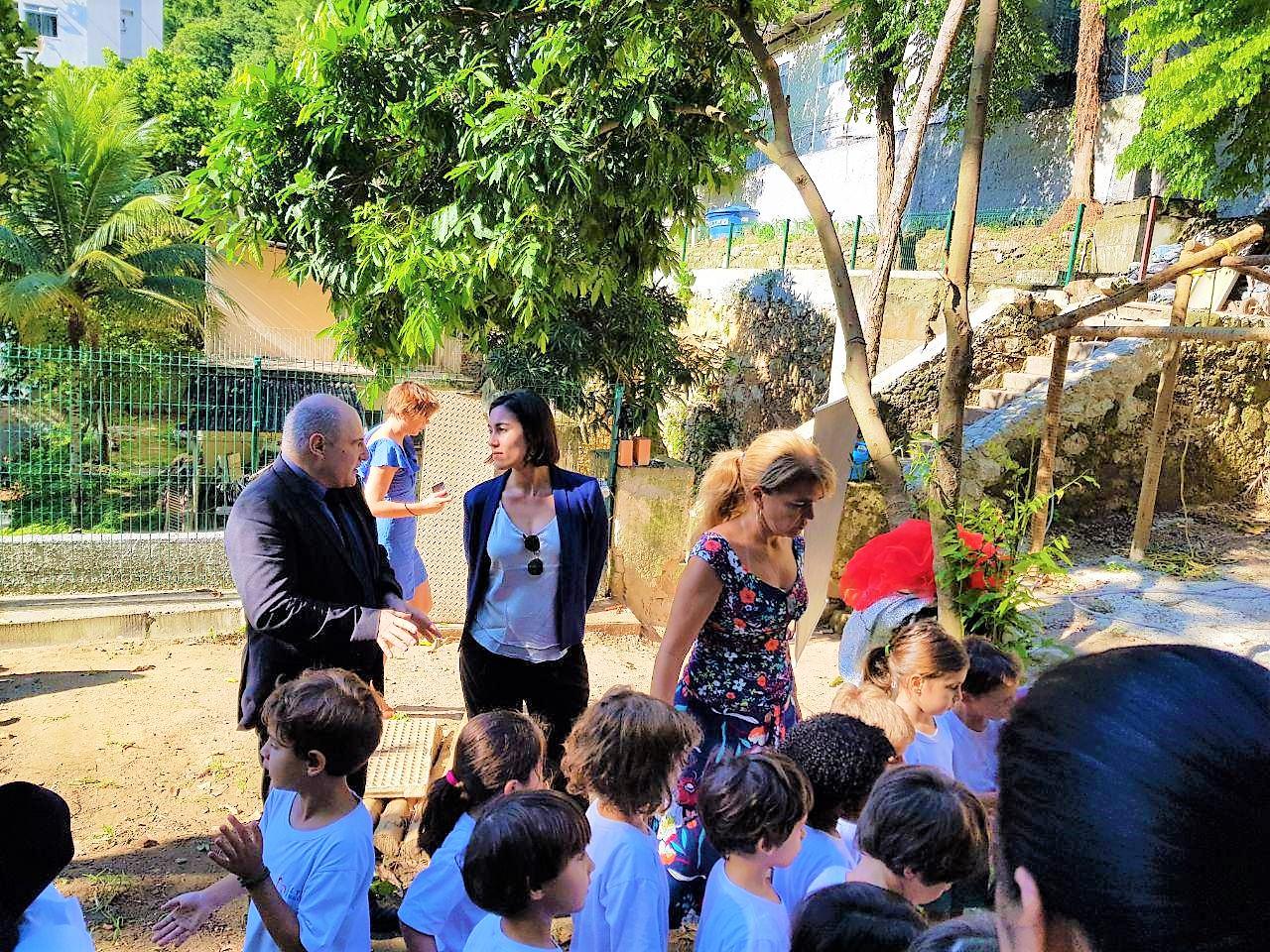 Visite du Lycée Moliere à Rio de Janeiro