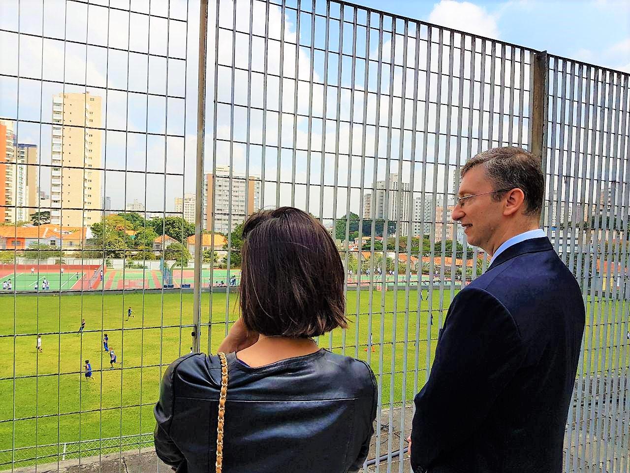 Visite  du Lycée Pasteur à Sao Paulo