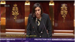 Mon discours sur la protection des données personnelles durant la lecture définitive du texte à l'Assemblée nationale
