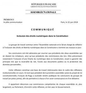 Faire entrer la Constitution dans la modernité : la proposition d'une #CharteDuNumérique